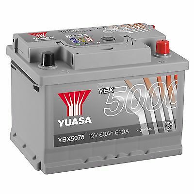Yuasa YBX5075 12V Silver 075 Series Car Battery 60Ah 620A