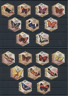 Butterflies Insects Fauna Papillons Schmetterlinge Malawi set of 18 MNH stamps
