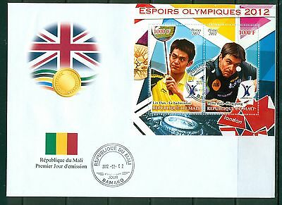 Mali First day cover FDC Olympic games London 2012 Badminton and Ping Pong