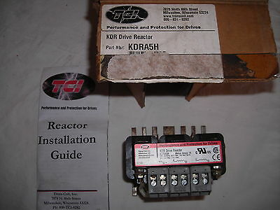 TCI KDR Drive Reactor KDRA5H  Performance and Protection for Drives NEW IN BOX