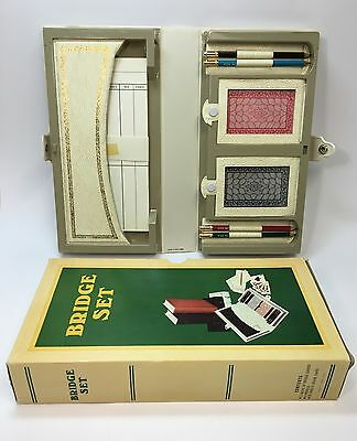Vintage Bridge Card Game Playing Set Retro 70s Collectable FREE SHIPPING