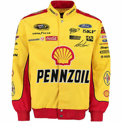 Joey Logano JH Design Pennzoil Color Twill Jacket - Yellow/Red - NASCAR