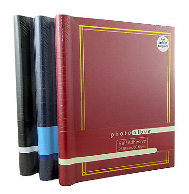 3 x PHOTO ALBUMS EACH WITH 25 SELF ADHESIVE SHEETS TOTALLING 75 SHEETS 150 SIDES