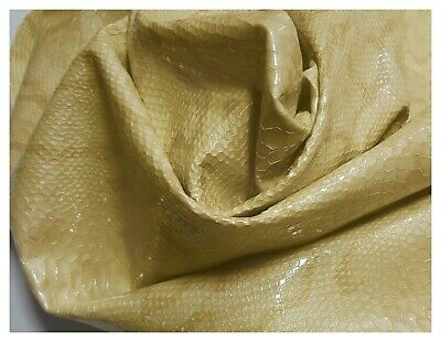 Leather Cowhide Yellow Lemon Embossed Snake Upholstery Cowhides RTL-LCH-7068