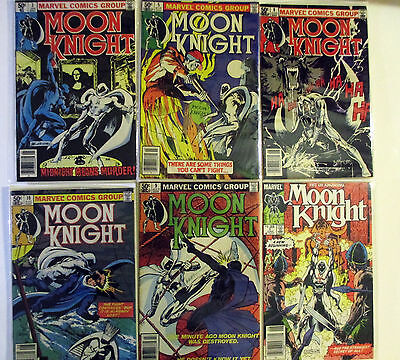 Lot of 6 MOON KNIGHT early issues 1-10  unread 9.4-9,6   Hot Series, 1981-1985