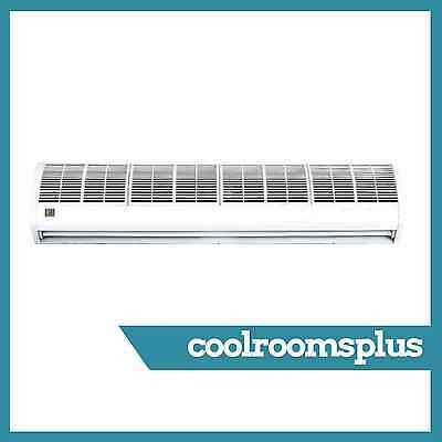 900mm Air Curtain Commercial Remote Control 3 Speeds Off White Slim Lightweight