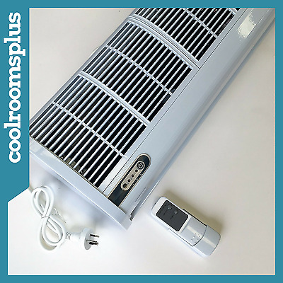 1200mm Air Curtain Commercial Remote Control 3 Speeds Off White Slim