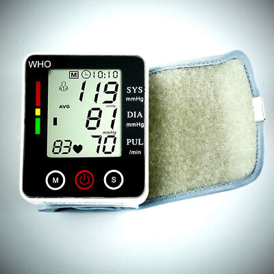 Automatic Digital LCD Arm Cuff Blood Pressure Pulse Monitor Sphgmomanometer TP