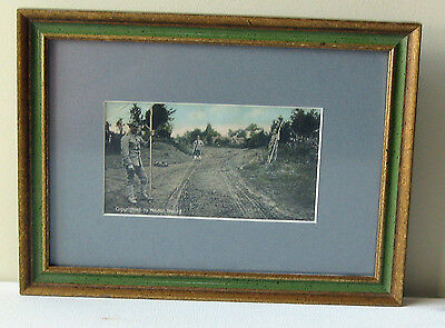 Framed WWI Post Card of Military Surveyors. - 1909.