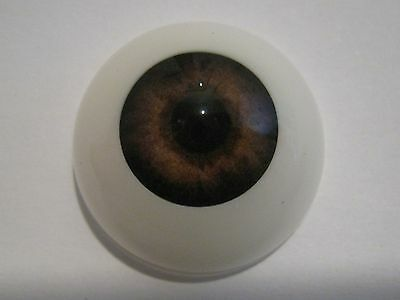 Reborn doll eyes 22mm Half Round  WALNUT