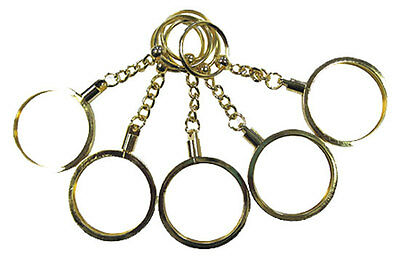 Key Chain 5 Gold Tone Color Casino Poker CHIP HOLDERS New FREE Shipping *