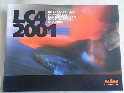 KTM LC4 Supermoto, Enduro, Adventure motorcycle brochure 2001 USA market
