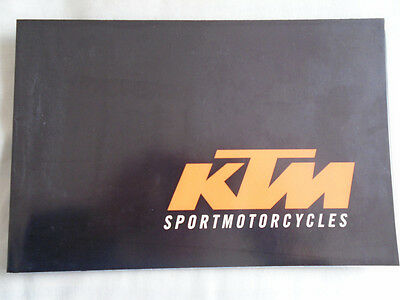 KTM Sport Motorcycles range brochure 2000 English & German text