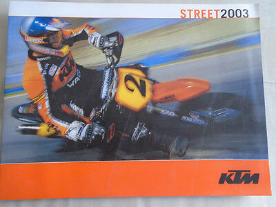 KTM Street motorcycle brochure 2003 English text