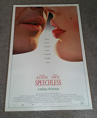 Speechless (1994) Original One Sheet Poster 27x40 Michael Keaton Geena Davis