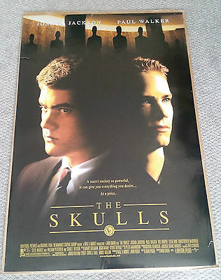 The Skulls (2000) Original One Sheet Poster 27x40 Paul Walker Joshua Jackson