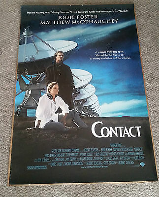 Contact (1997) Original One Sheet Poster 27x40 Jodie Foster Matthew McConaughey
