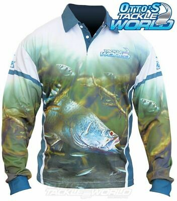 Tackle World Barra 2016 Long Sleeve Fishing Sun Shirt BRAND NEW @ Otto's
