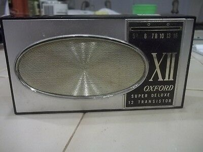 Vintage OXFORD Super Deluxe XII 12 Transistor Radio ESTATE FIND
