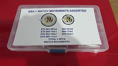 Esa-Swiss Watch Movement Assortment-- 9 Pcs