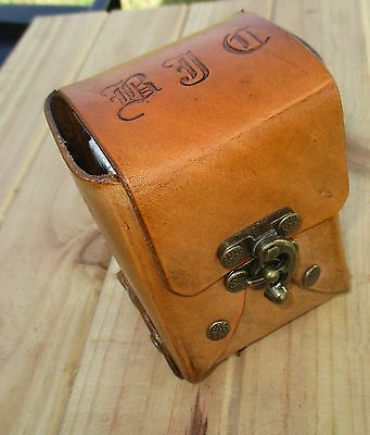 Personalized Leather Deck Box, Playing, Trading, Poker Card holder.