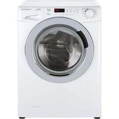 Candy GVW485DC Alise Free Standing 8Kg 1400 Spin Washer Dryer White New from AO