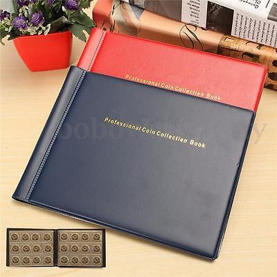 120 Holders Coin Collection Album Collecting Book Collect Money Penny Pockets