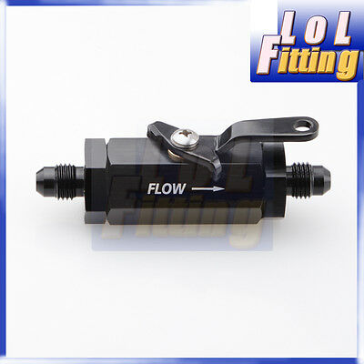 An6 6An -6 An Shut Off Valve Fitting Aluminum Black