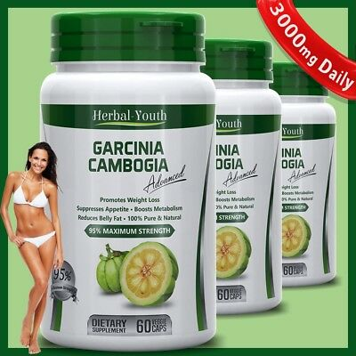 3000mg Daily GARCINIA CAMBOGIA Advanced Weight Loss Capsules Pure Slimming Pills