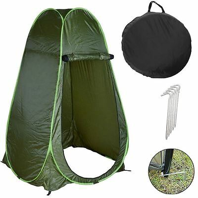 Green Portable Instant Pop Up Tent Camping Shower Toilet Changing Single Room UK