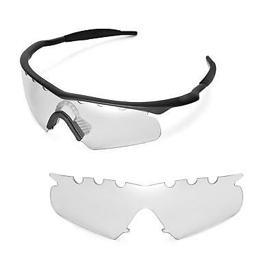 New Walleva Clear Vented Replacement Lenses for Oakley M Frame Hybrid Sunglasses