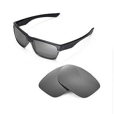 New Walleva Polarized Titanium Replacement Lenses For Oakley TwoFace Sunglasses