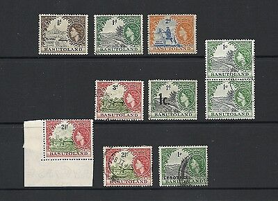 1954 Queen Elizabeth II SG43 - SG46 Mint Hinged/Used Coll. Some O/ps BASUTOLAND