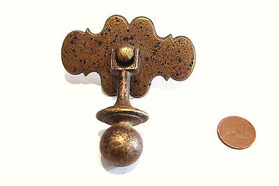 Antique Brass Drop Drawer Pull Handle Single Table Dresser Victorian Hardware
