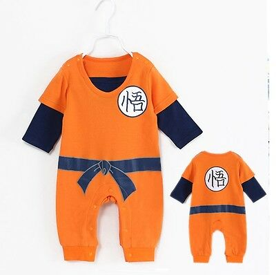 Dragon Ball/ Pelele Body Pijama Son Goku Manga Larga- Baby Romper Long Sleeve