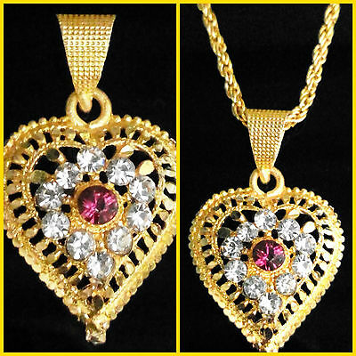 24k 22K Gold Plated Traditional Indian Chain Pendant Charming Women Jewelry Set