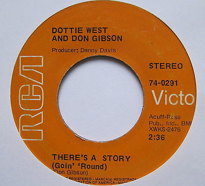 """DOTTIE WEST - There's A Story(Goin' Round) - Excellent Con 7"""" Single RCA 47-0291"""
