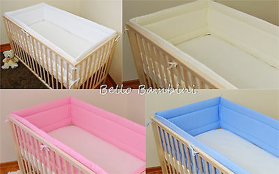 All round bumper/Nursery Bumper/420/360cm long/Padded 4 Sided/Cot Bed/Solid