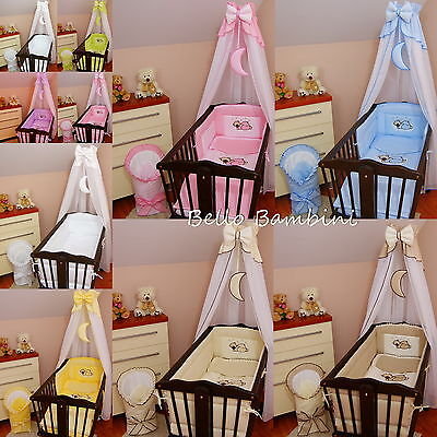 CANOPY drape-to fit baby swinging crib/wicker basket/craddle+HOLDER