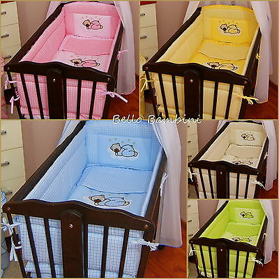 6 pcs bedding set /Bumper ALL ROUND 260cm/sheet/duvet/ to fit baby swinging crib