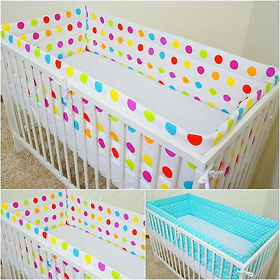 All Round bumper/Nursery Bumper/420/360cm long/Padded 4 Sided/ 4 Cot or Cot Bed!