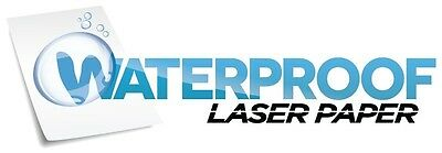 Waterproof laser paper Glossy Permanent label w/liner 25 sheets