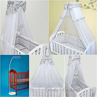 CANOPY drape-to fit baby swinging crib/wicker basket/craddle + CANOPY HOLDER