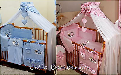 Stunning /baby/cot/cot Bed/cotbed Big Canopy Drape/mosquito Net+Holder/rod/clamp
