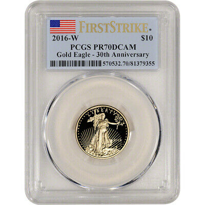 2016-W American Gold Eagle Proof (1/4 oz) $10 - PCGS PR70 DCAM First Strike