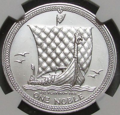 1984 Platinum Isle Of Man Noble Ngc Mint State 66 Only 2,000 Minted