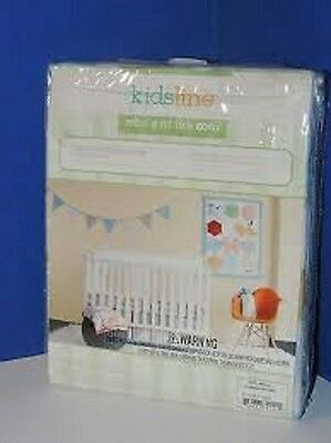 KidsLine Whos At The Zoo? Crib Fitted Sheet Baby100% Cotton Sateen 200 Thread Ct