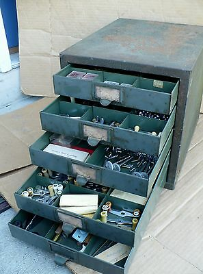 Vintage Kennedy Kit Fishing Reel Parts Repair cabinet STOCKED WITH PARTS!!!!!