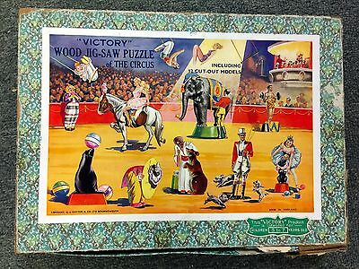 1930S/1940S *victory* Wood Jig-Saw Puzzle England Circus Hayter & Co Mr11