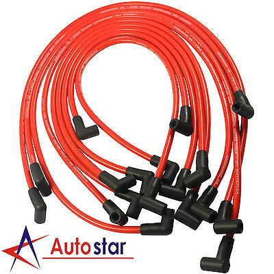 10.5MM Electronic Ignition HEI Spark Plug Wire Set For Chevy SBC BBC 350 383 454
